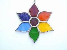 Stained Glass Sunshine Flower Suncatcher • £8.00 - PicClick UK