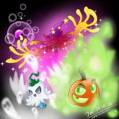 PvZ FanArt: Halloween Trio by JackieWolly on DeviantArt Zombie Birthday Cakes, Zombie Birthday Parties, Zombie Party, P Vs Z, Zombie 2, Cupcake Art, Fantasy Comics, Balloon Decorations Party, Plants Vs Zombies