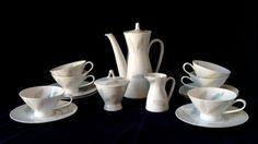 "Retro Mid Century Modern Rosenthal Loewy ""Bunte Blatter"" 15 piece coffee/tea set - Birthday/Housewarming/Wedding/Engagement/Shower Gift"