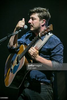 Marcus Mumford of Mumford & Sons performs during their Gentlemen on the Road Tour at DTE Energy Music Theater on June 16, 2015 in Clarkston, Michigan.