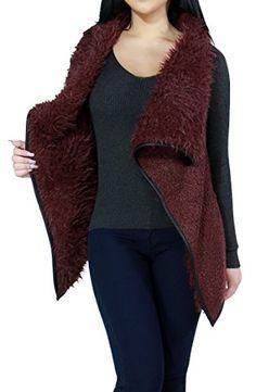 Faux Fur w/ Faux Leather Trim Trendy Fashion Vest Top for Women (SMALL, BURGUNDY-L12341V) Fandsway http://www.amazon.com/dp/B0170TQIAE/ref=cm_sw_r_pi_dp_Rw4Qwb0X9H99J