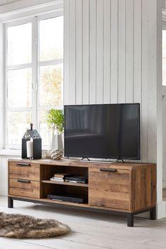 Buy Bronx Wide TV Stand from the Next UK online shop Entertainment Center Decor, Entertainment System, Rack Tv, Muebles Living, Tv Cabinets, Oak Tv Cabinet, Light Oak, Cabana, Living Room Furniture