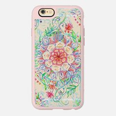 Messy Boho Floral - color on transparent - protective iPhone case - Get $10 off your first purchase using this code: 6SP8GR - #casetify #freeshipping #micklyn
