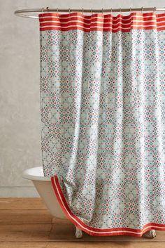 Piastrella Shower Curtain  #Anthropologie