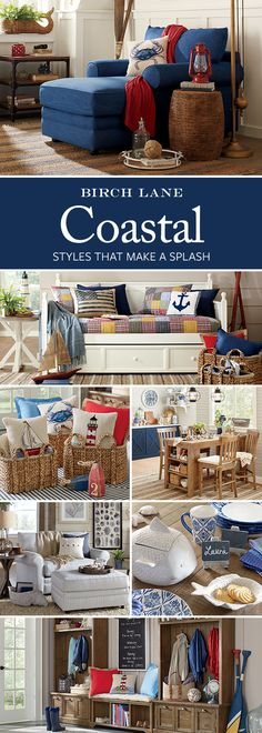 Whether you live steps from the beach or miles from the shore, the Coastal look is within easy reach. Birch Lane's assortment of furniture, wall art, and decor offers the perfect mix of color, texture, and pattern to create your very own beach house. Shop these products (and so much more!) at Birchlane.com. Sign up and learn more. Don't forget: enjoy Free Shipping on orders $49 and more.