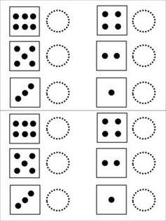 Fichas para preescolar: Pensamiento matemático dados para