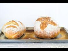 Qualquer um pode fazer este pão. Ele é simplesmente infalível, não precisa sovar e tem o sabor único do pão artesanal. Tenha pães fresquinhos sem muito trabalho e sujeira. É só misturar todos os ingredientes e voilà! Pão artesanal sem sova rápido e fácil. Pão caseiro sem sova fácil (pão preguiçoso!) - YouTube