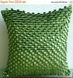 15% HOLIDAY SALE Designer Green Decorative by TheHomeCentric