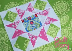 Quilt Story: May's Block of the Month, Hourglass