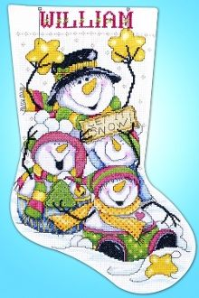Let It Snow - Design Works Christmas Counted Cross Stitch Stocking Kit