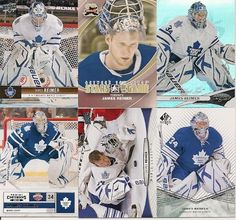 6 DIFFERENT JAMES REIMER TORONTO MAPLE LEAFS HOCKEY CARDS LOT
