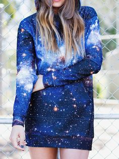 Galaxy Blue Slouchy (WW $150AUD / US $120USD) by Black Milk Clothing