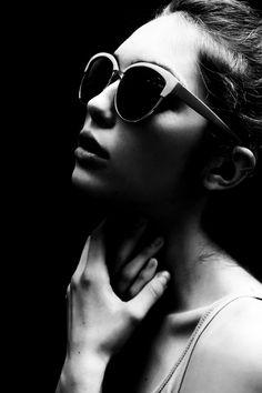 Black & White. Model. Portrait. Face. Glasses. Express. Feeling. Shadows. Art. Photograph. Beauty. Lips. Fresh. Minimal. SImple.