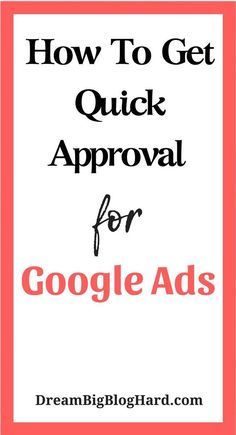 If you're looking to make money blogging one of the easiest ways to make passive income is to put ads on your blog.  Check this post to learn how to make money through Google ads and 6 tips to get quick approval. #googleads, #makemoneyonline #dreambigbloghard Business Marketing, Business Tips, Online Business, Marketing Guru, Creative Business, Content Marketing, Google Ads, Google Drive, Affiliate Marketing