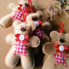 Hand Stitched Felt Teddy