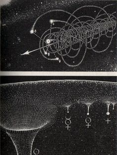 planetary movement, astronomy, astrology, space, black and white