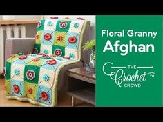Floral Granny Afghan For those who love eye popping crochet projects and flowers blooming right out of the centers of
