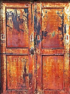The Rusted Door - Shades of aging....by Isabella Darnell
