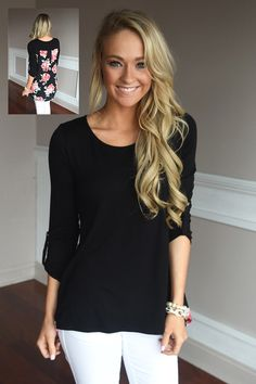 Passion Flower Top ~ Black – The Pulse Boutique