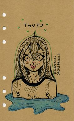 Asui Tsuyu by skelelle