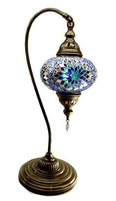 Glass Mosaic Lamp (tall)-12 - Nazar Turkish Imports