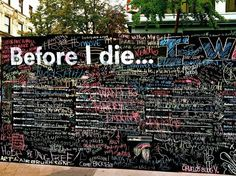 Before I Die   Candy Chang   Merge Festival Bankside 2013   Flat Iron Square