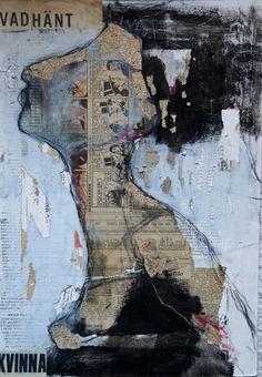 carola kastman,collage,painting,vad kvinna..?