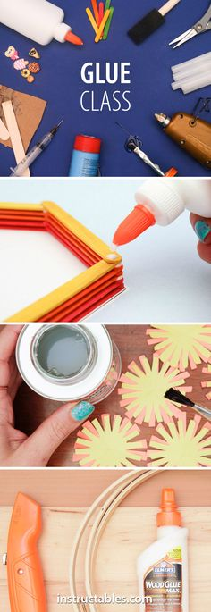 Become an expert in the field of adhesives. Learn about different kinds of adhesives, what they are suited for, common repairs, and creative projects you can make with glue.