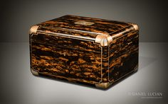 Antique Jewellery Box in Coromandel with Cantilever Mechanism - DanielLucian.com