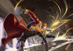 archer emiya_shirou fate/stay_night male scrap_iron sword weapon