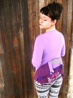 Recyceltes Top Recycelte Kleidung Rekonstruiert Tshirt Frauenoberteil Baumwolltop Ecofreundlich Redesign S M
