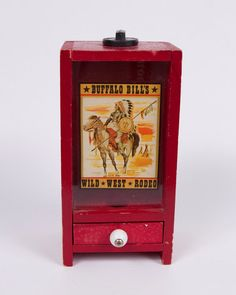 Your place to buy and sell all things handmade Penny Arcade, Thing 1, Gumball Machine, Novelty Items, Toy Boxes, Wild West, Rodeo, Painting On Wood, Buffalo