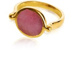 GFG Jewellery - Cara Sapphire Ring Pink (8.406.865 VND) ❤ liked on Polyvore featuring jewelry, rings, 18k ring, sapphire ring, 18 karat gold ring, pink sapphire jewelry and 18 karat gold jewelry