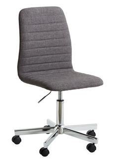 Kancelářská židle ABILDHOLT šedá/chrom | JYSK