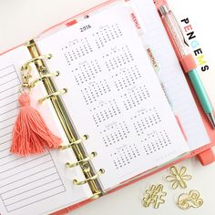 2016 PenGems Free Personal Size Planner Inserts