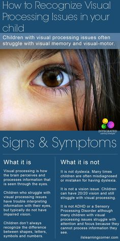 Visual Processing: How to Recognize a Visual Processing Disorder in Your Child   ilslearningcorner.com