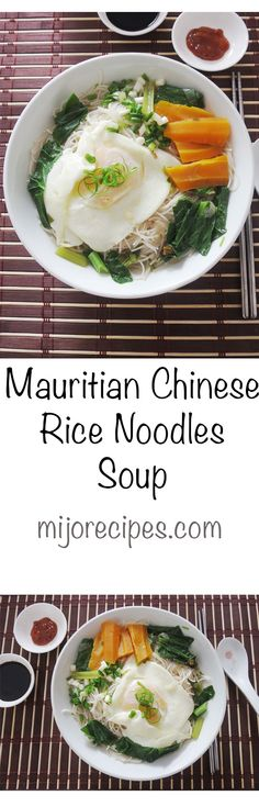 {Mauritian Recipes | Chinese Recipes} Mauritian Chinese Rice Noodles Soup (Meefoon Soup) is a quick and easy under 30 minutes meals recipe!