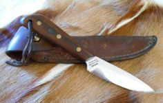 Antique Grohmann Canadian Armed Forces Knife Russell Belt Knife w Leather Sheath | eBay