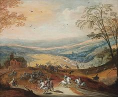 Joos de Momper II & Peter Snayers : A cavalry skirmish in a hilly landscape (Private collection) ヨース・デ・モンペル 1564-1635 & ピーテル・スネイエルス 1592-1667