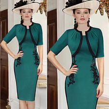 Women Stretch Bodycon Slim Business Office Cocktail Evening Party Pencil Dress