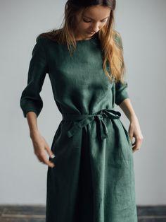 Базовое хвойное платье