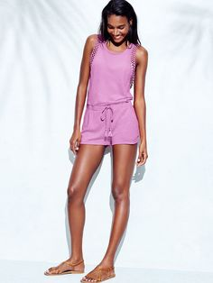 Sometimes cover-ups are too cute to keep to the beach. This is one of those times.   Victoria's Secret Cover-up Romper
