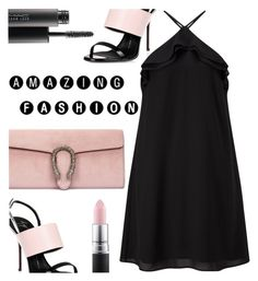 """You are incredibly amazing!"" by rasa-j ❤ liked on Polyvore featuring Giuseppe Zanotti, Gucci, Miss Selfridge, MAC Cosmetics, amazing, womenfashion and summer2016"