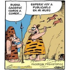 Facebook en la prehistoria [Cómic] #Humor #Funny