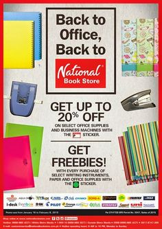 National Bookstore 20% office products end in feb 8, 2015