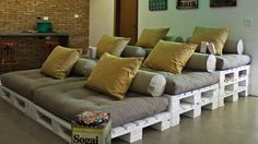 Kjerity: your family needs this. :)  Build Stadium-Style Home Theater Seating on the Cheap with Shipping Pallets