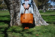 Large Leather Tote  Everyday tote bag by BuboBaggins on Etsy, $180.00