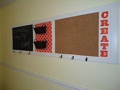 Panel door turned message center