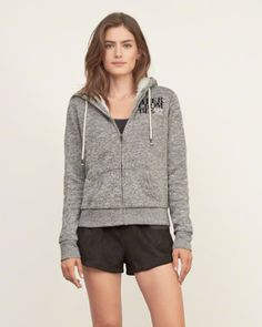Women's Sherpa Lined Logo Graphic Hoodie