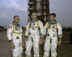 Remembering the crew of Apollo 1. Astronauts Gus Grissom, Ed White, and Roger Chaffee perished January 27, 1967 in a fire during a pre-launch test for what was to be the first crewed Apollo mission. / Photo credit: NASA